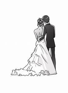 Dessin Couple Mariage Noir Et Blanc : mariage eyvie en couleurs ~ Melissatoandfro.com Idées de Décoration