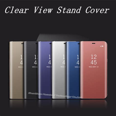 samsung s view standing cover galaxy a7 2017 original samsung 1 aliexpress buy mirror clear view flip cover for