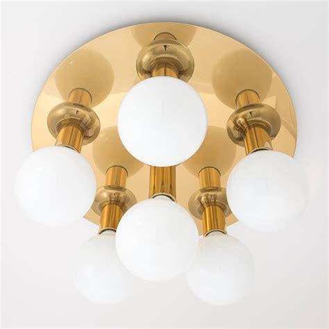 brass sputnik flush mount or wall light fixture sconce by