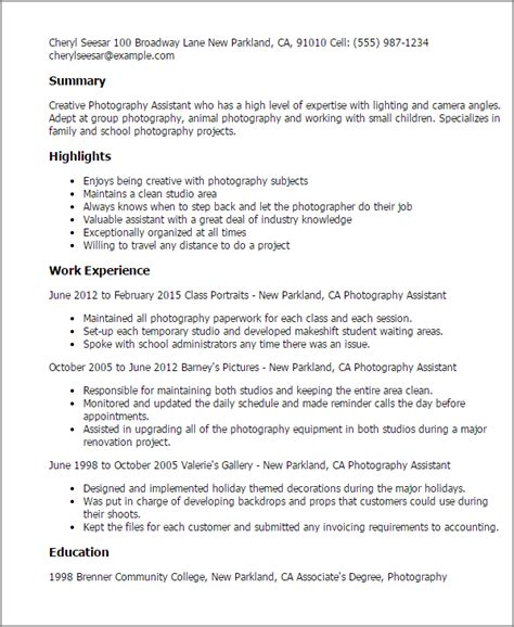 photography resume sle 28 images resume sle entracing