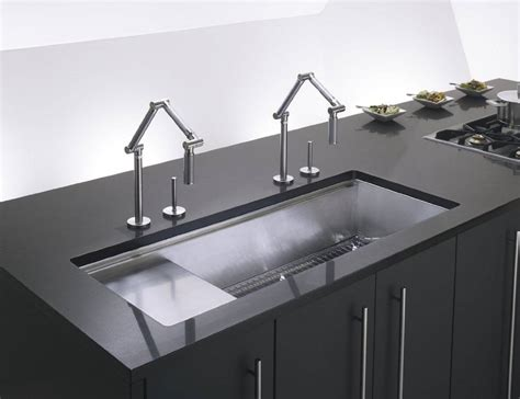 Articulating Deck Mount Kitchen Faucet by Kohler Karbon Articulating Deck Mount Kitchen Faucet