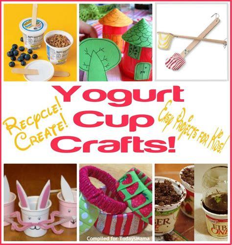 Yogurt Cup Crafts  Cup Crafts, Yogurt And Cups