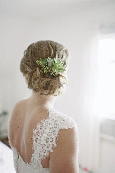 wedding hairstyle ideas  succulents wedding brides