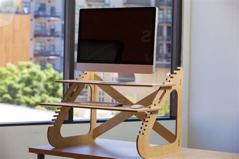 convert your desk to a stand up desk build your own standing desk for about 20