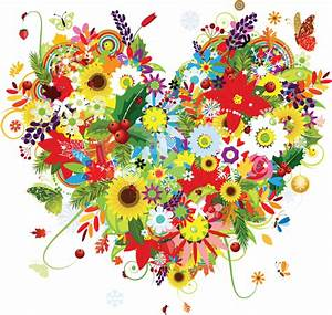 Colorful Floral Heart by artbeautifulcloth on DeviantArt
