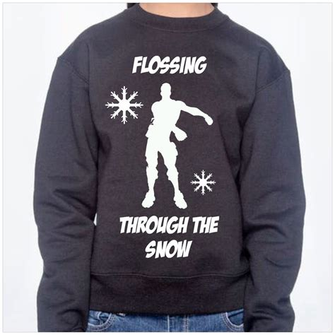 boys ugly christmas sweater sweatshirt flossing