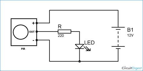 Pir Sensor Based Motion Detector Circuit Diagram