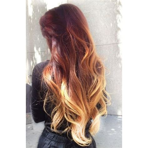 Maroon Ombre Color Hair Dye White Blonde Yellow Peach