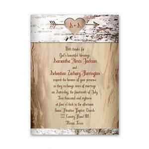 Aged Birch Petite Invitation Ann's Bridal Bargains