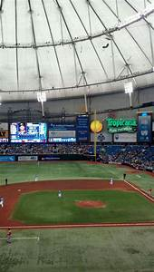 Rays Seating Chart Tropicana Field Section 209 Tampa Bay Rays