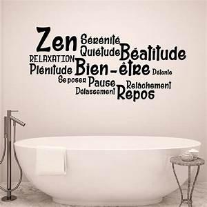Stickers Salle De Bain Zen : sticker salle de bain citation zen bien tre repos stickers citations fran ais ambiance ~ Dode.kayakingforconservation.com Idées de Décoration