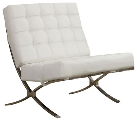 x style waffle accent chair chrome legs and white faux