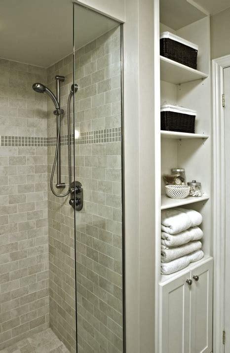 Bathroom Linen Closet Ideas by Updated Bathroom Linen Closet Exposed Shelves Bathroom