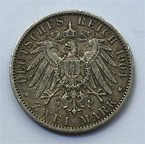 german statesprussia silver zwei mark deutsches
