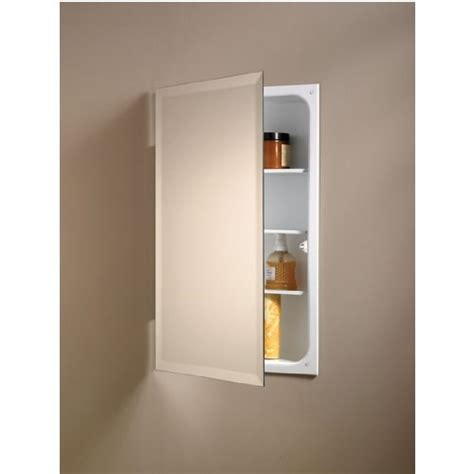 Nutone Medicine Cabinets Recessed by Nutone 823p24wh Square Single Door Recessed