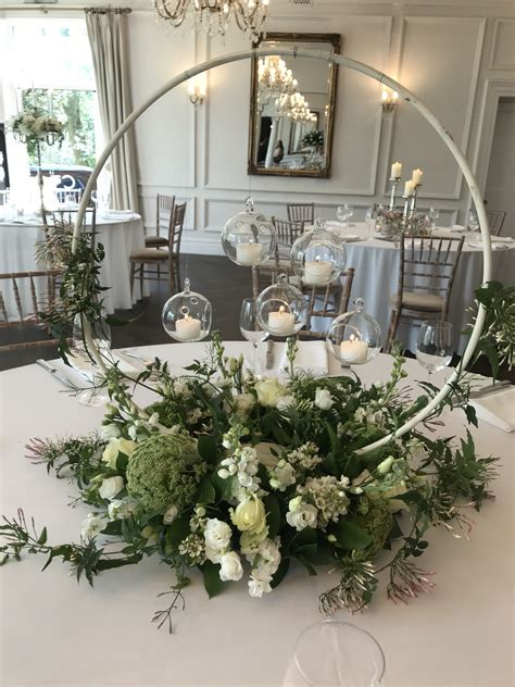 floral hoop table centre flowers wedding decorations