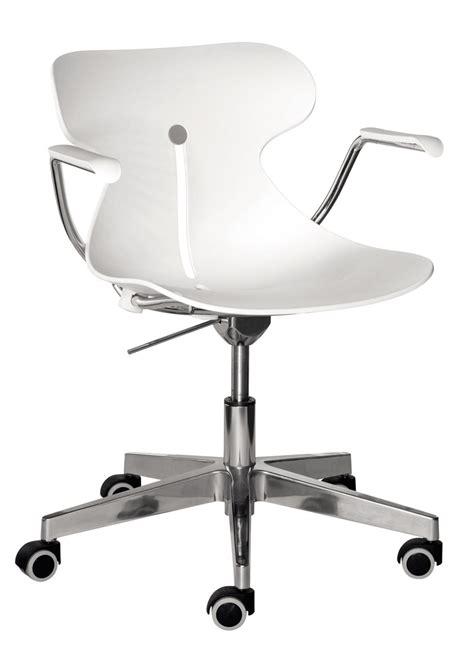 siege bureau blanc chaise plastique blanche sur roulettes design vauréal