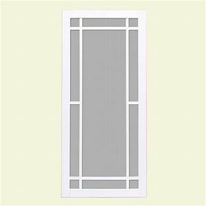 unique home designs 36 in x 80 in napa white outswing With unique home designs screen door