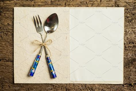 Menu Background, Vintage Cutlery