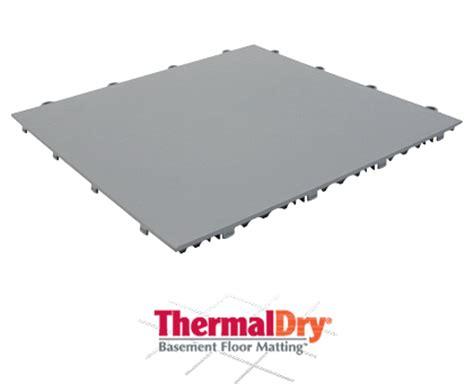 Thermaldry Basement Floor Matting by Thermaldry 174 Basement Floor Matting Basement Systems