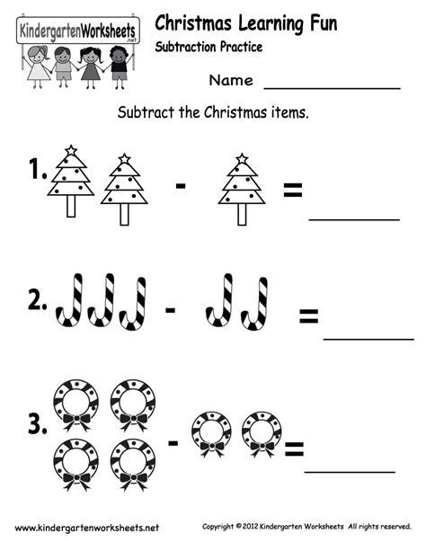 kindergarten worksheets printable subtraction