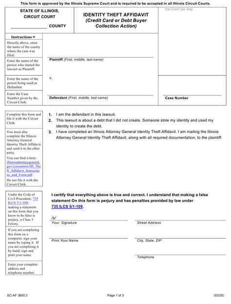 Check spelling or type a new query. Form SC-AF3600.3 Download Fillable PDF or Fill Online Identity Theft Affidavit (Credit Card or ...