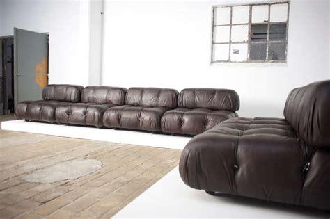 6 Bellini 'camaleonda' Modular Sofa Elements,brown Leather