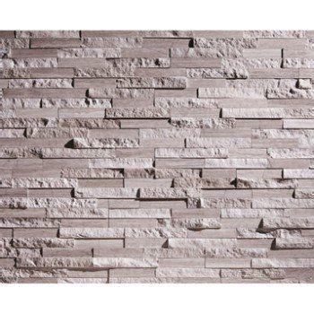 plaquette de parement cottage en naturelle gris beige leroy merlin briquettes de