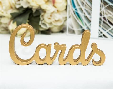 Cards Sign For Wedding Cards Table Sign Freestanding