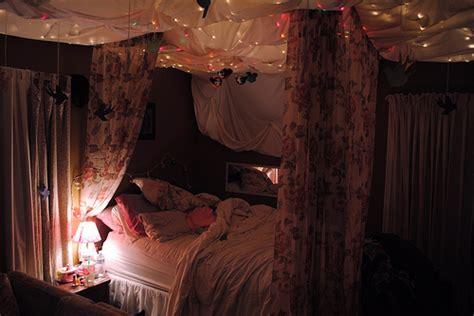 bed bedroom cool lights image 603862 on favim