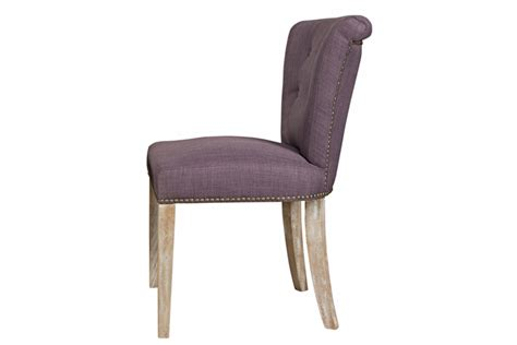 purple dining chair