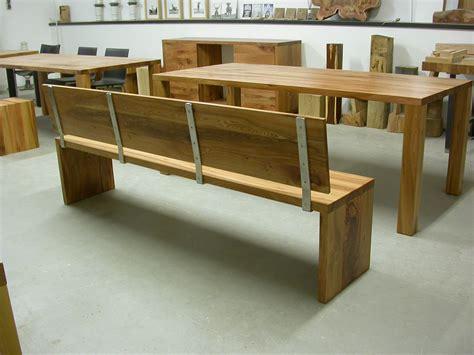 Küchenwagen Edelstahl Holz by Bank Joseph Mit R 252 Ckenlehne Aus Edelstahl Und Holz