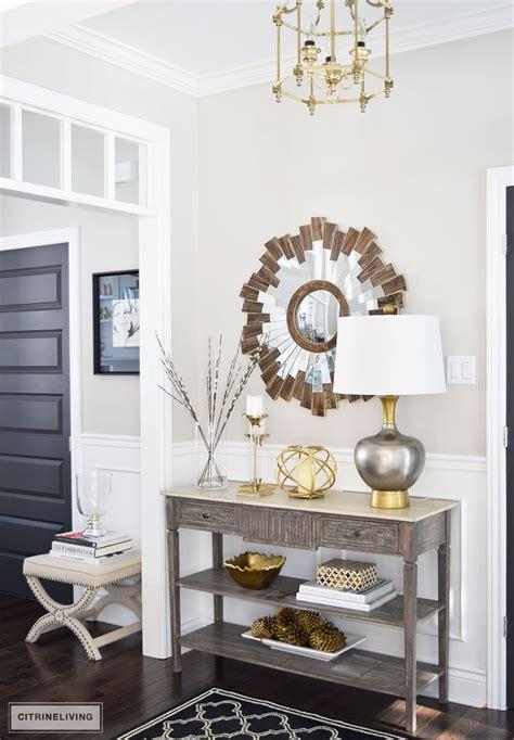 foyer table decor ideas  pinterest console