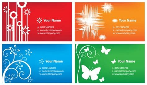 Colorful Business Card Templates Vector Set Visiting Card Stand For Table Business Stock Template Samples Uk Sample Accountant Best Scanner Android Real Estate Geographics Cfa Rules