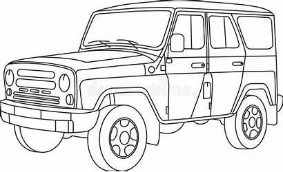 Coloring Cars Coloration Enfants Uaz Suv Voitures