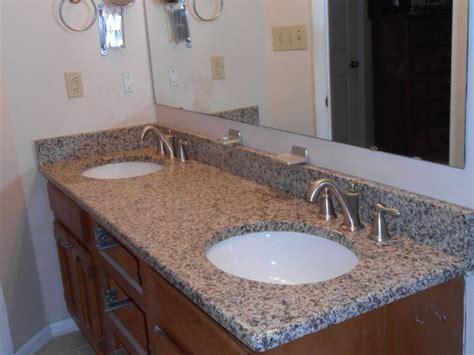 creme caramel granite traditional bathroom