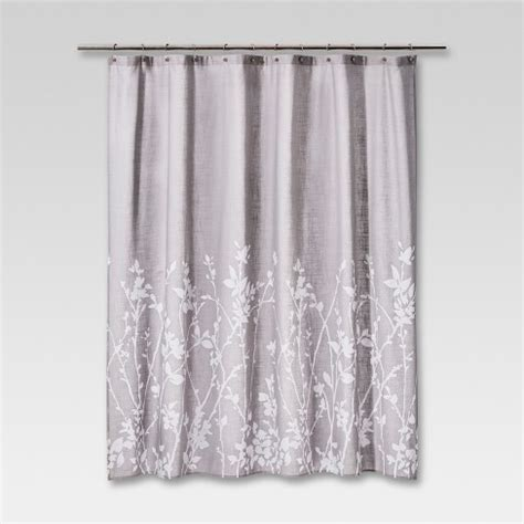 Shower Curtain Gray by Floral Print Shower Curtain Gray Project 62 Target