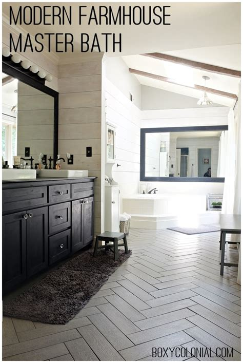 kristis modern farmhouse rustic glam master bathroom