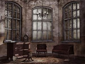 Old, Vintage, Living, Room, Stock, Illustration, Illustration, Of, Vintage