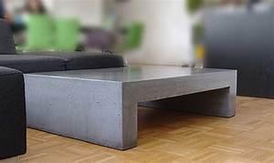 Beton In Form : couchtisch aus beton tisch u form in funktion ~ Markanthonyermac.com Haus und Dekorationen