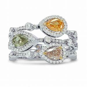 pear shaped diamond halo three strand ring sku 157258 1 With three strand wedding ring