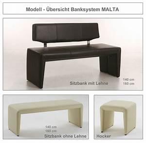 hochwertige Bank mit Lehne 140cm 160cm Sitzbank