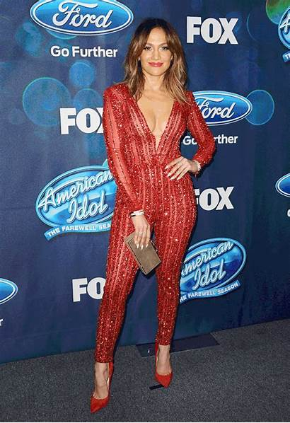 Lopez Jennifer Sheer Jumpsuit Plunging Carpet Stuns