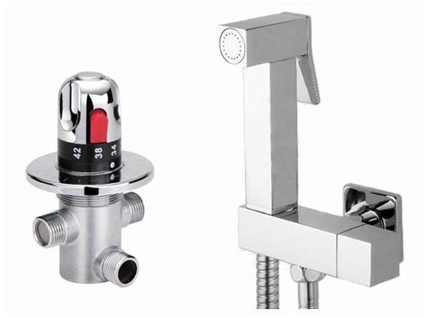 Wall Mounted Thermostatic Hand Held Douche Bidet Sprayer