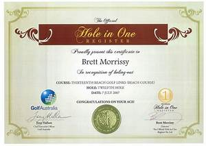 printable golf gift certificate template quotes With free hole in one certificate template