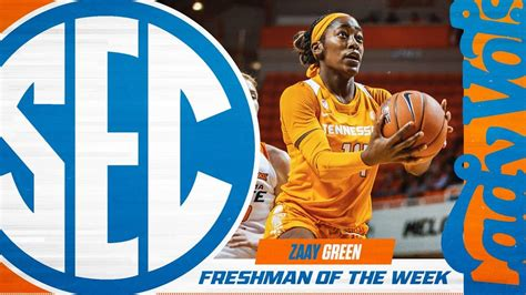 zaay green named sec freshman   week wnml af