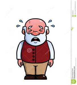 Old Man Crying Clip Art