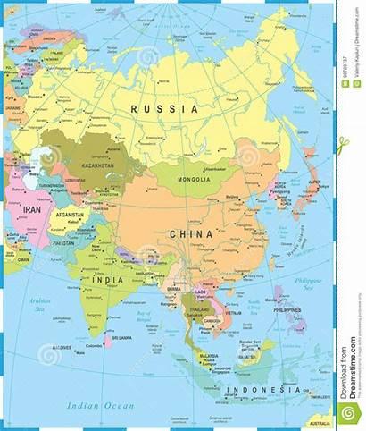 Asia Map Illustration Vector Detailed Mongolia Burma