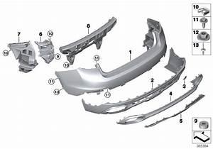 2017 Bmw X6 Panel For Bumper  Rear  Pdc  Trim  Body