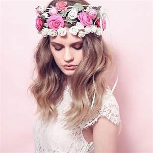 Couronne De Fleurs Cheveux Mariage : couronne de fleurs hippie ~ Farleysfitness.com Idées de Décoration